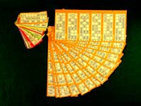 Bingo supplies - tickets cards